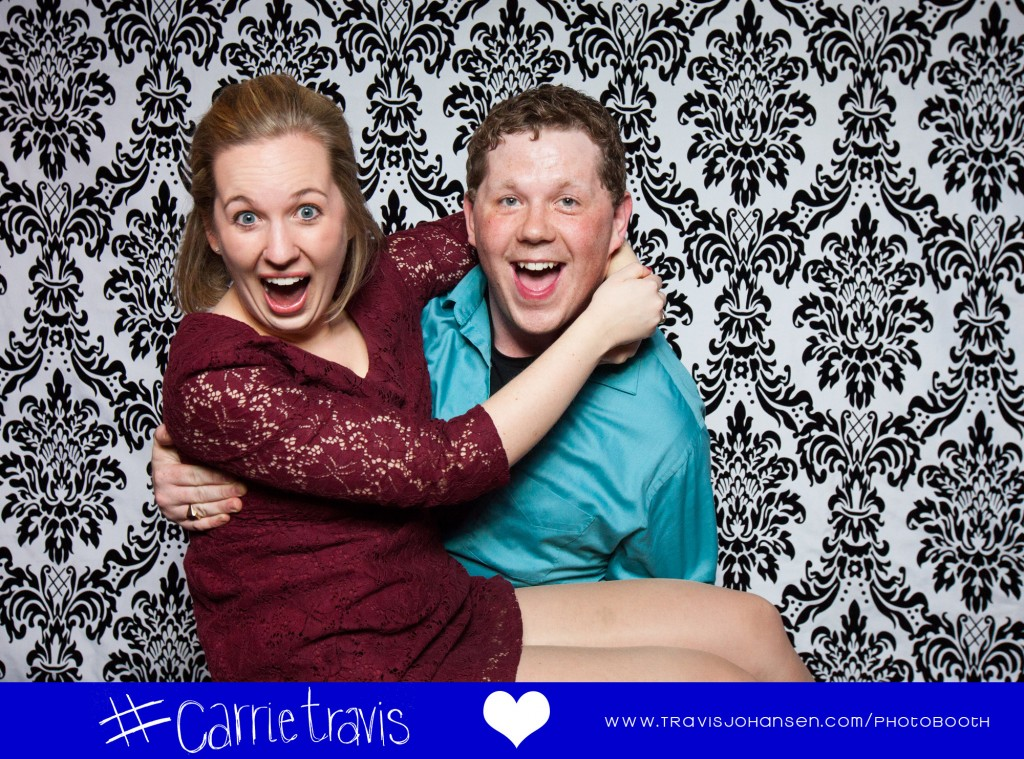 Couple in photobooth Maple Grove MN