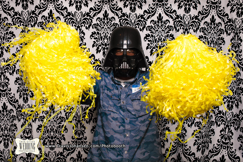 Darth Vader in the Minneapolis Photobooth Rental Booth