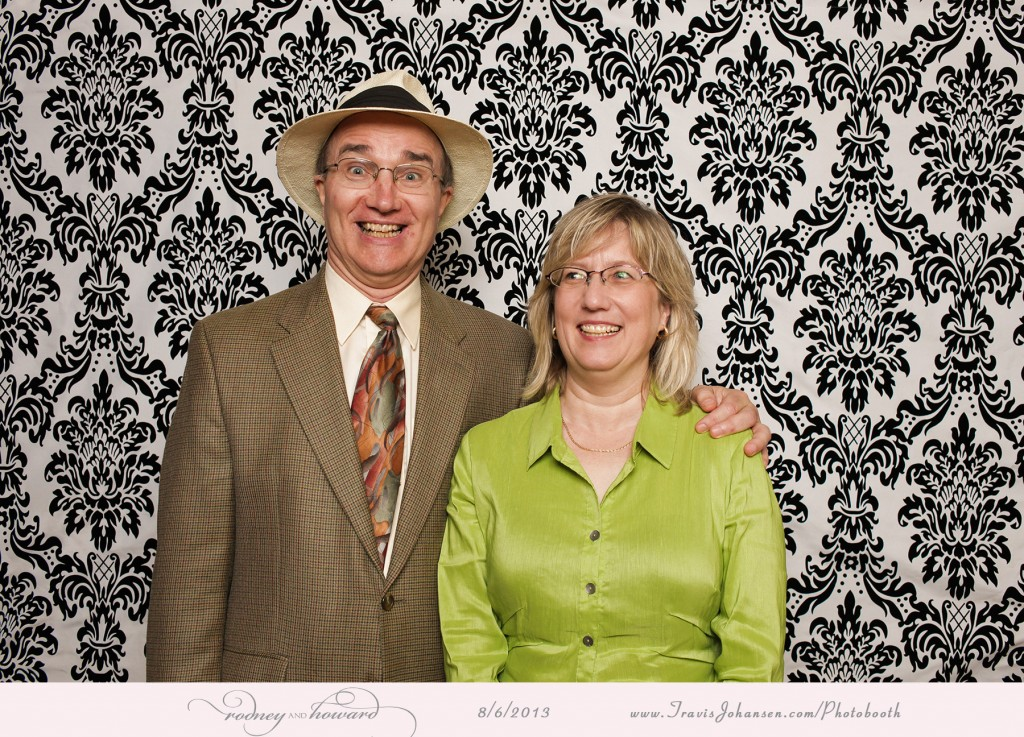 Funny faces in the photobooth - at Pinstripes of Edina MN