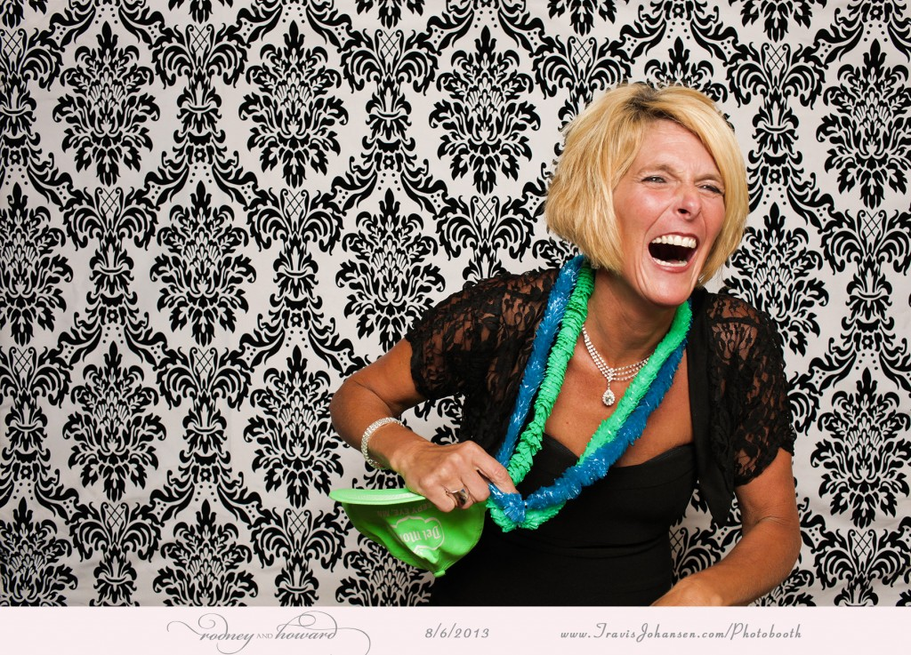 Huge laugh in the photo booth - Pinstripes of Edina MN