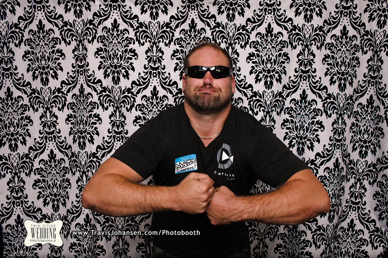 Matt with Complete DJs and Event in the Minneapolis Photobooth rental booth